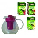 Buy 3 leaf Tea with glass Tea Pot with Infuser